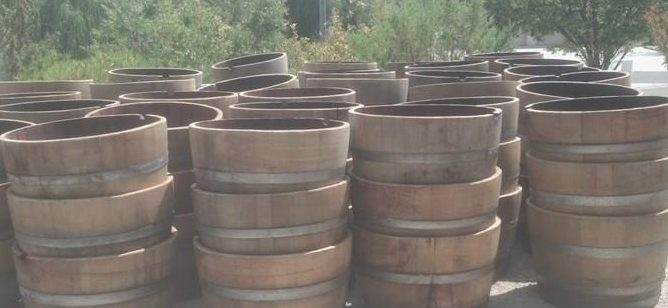 half wine barrels for sale